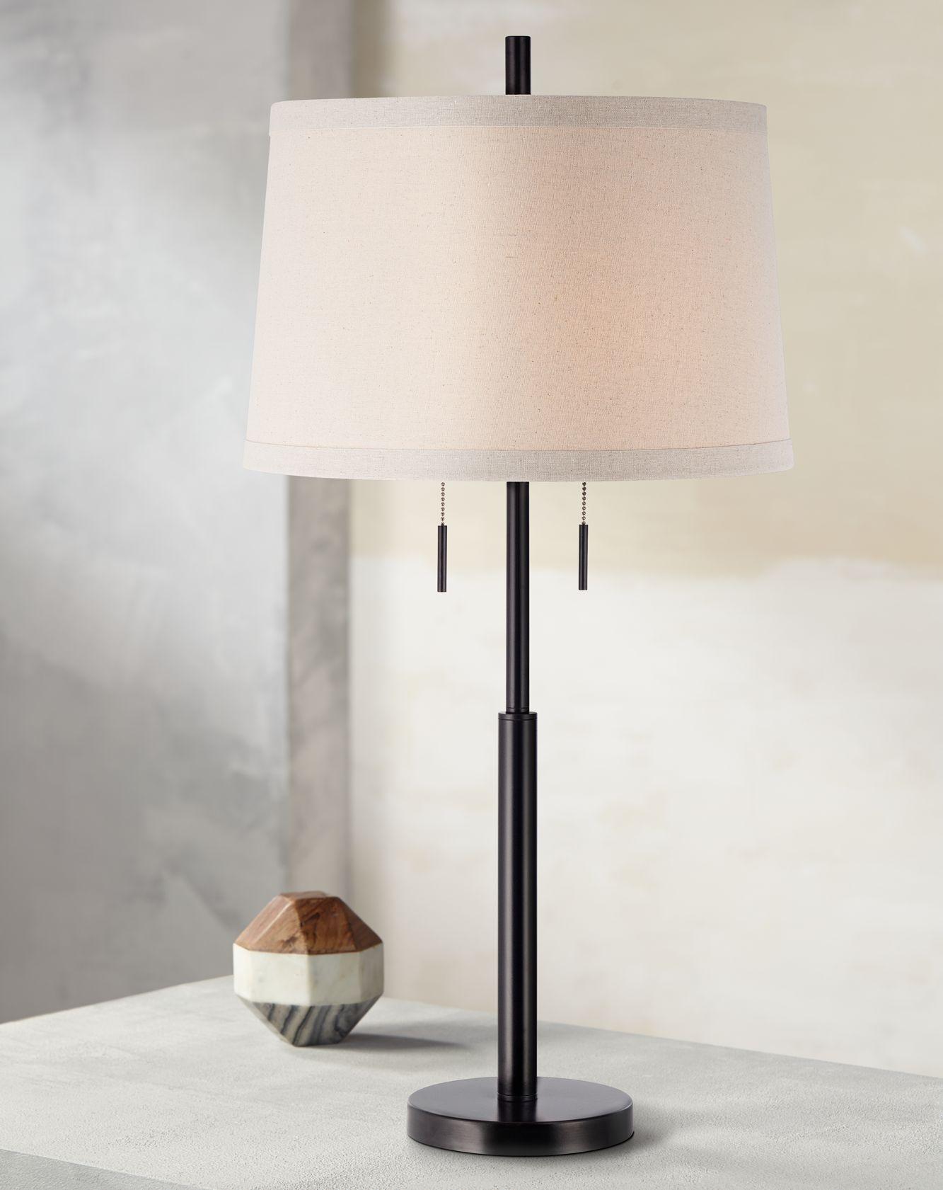 Buffet lamps Possini Euro Design matt dark bronze rod table lamp MDATJEX