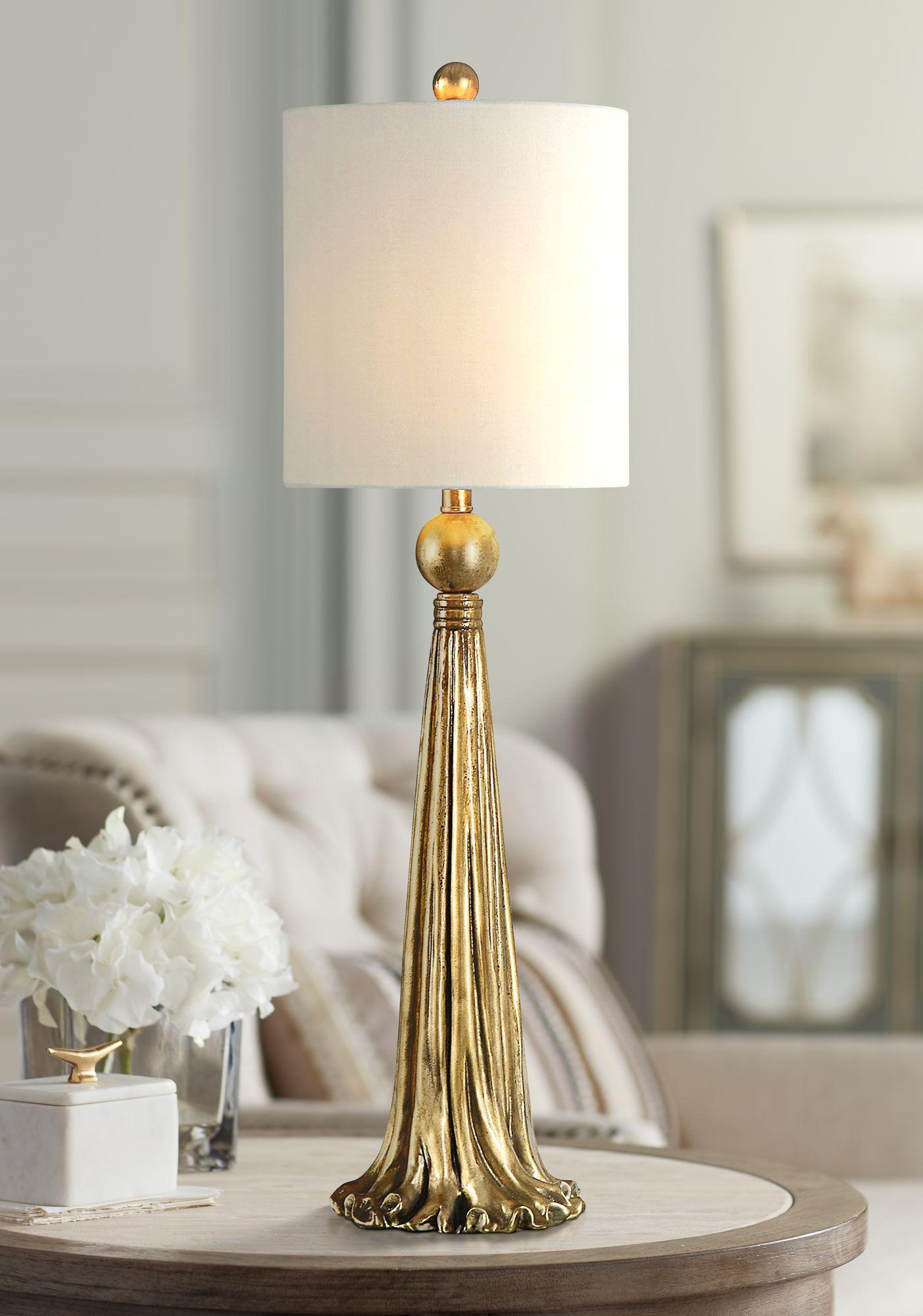 Buffet Lamps Extreme Paravani Antique Metallic Gold Buffet Table Lamp NXTKYWF