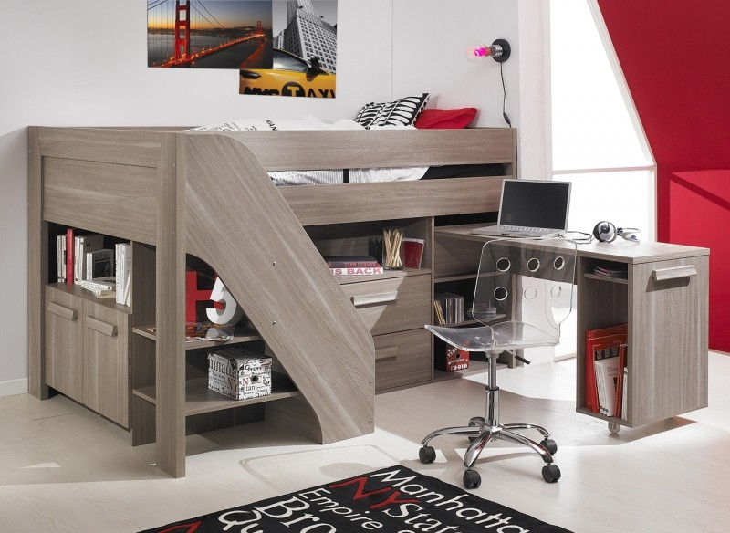 Bunk beds with desk Double bunk bed with desk 1 APUSKHS