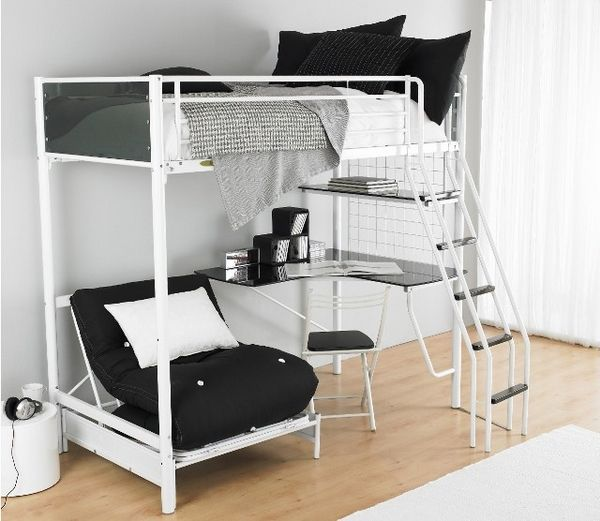 Bunk beds with desk Girls loft bed with desk |  functional ideas for youth room furniture - BOJXGGM