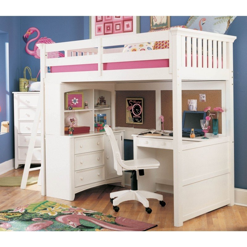 Bunk beds with desk loft bed desk chest of drawers EMZRCNZ