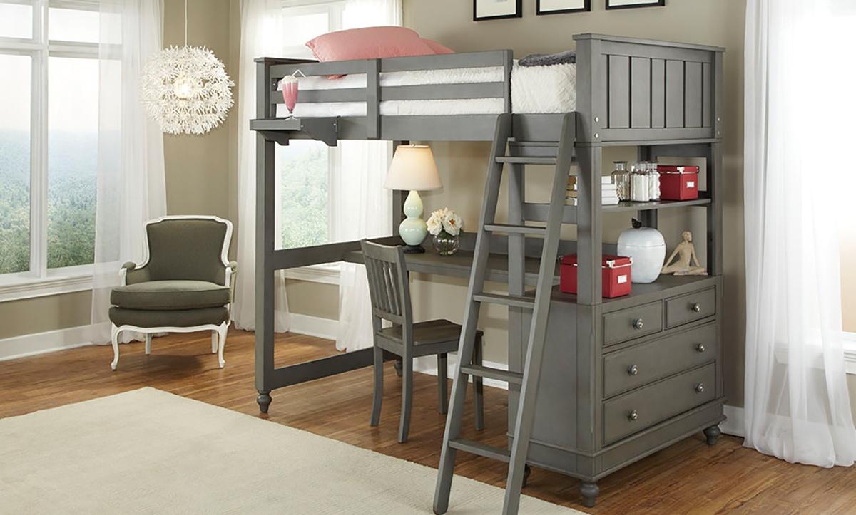 Bunk Beds with Desks Loft Beds with Desks Image of Lakehouse Twin Loft Bed & Desk ZTGSJCL