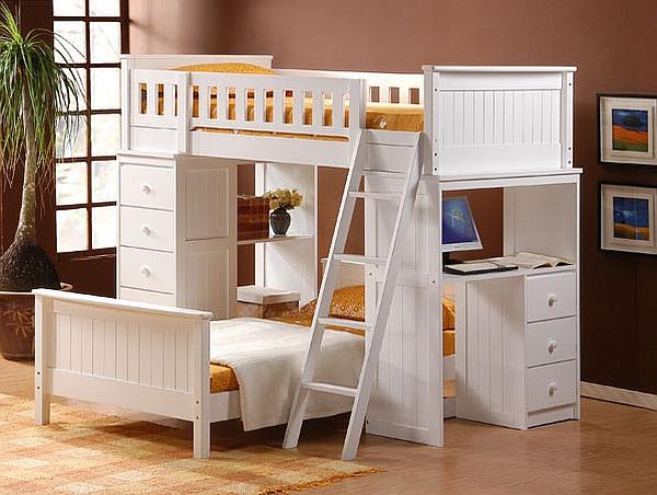 Bunk beds with desks Loft beds with desks underneath photo details - we present these ideas to MZQDBJT