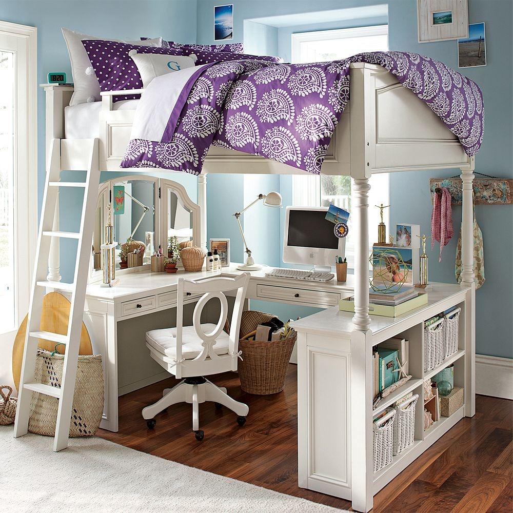 Bunk beds with desks that combine work with pleasure - loft beds with desks underneath UXVDKYH