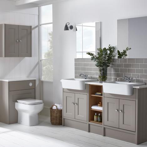 Burford Mocha built-in bathroom furniture    Roper Rhodes WZCXHRM