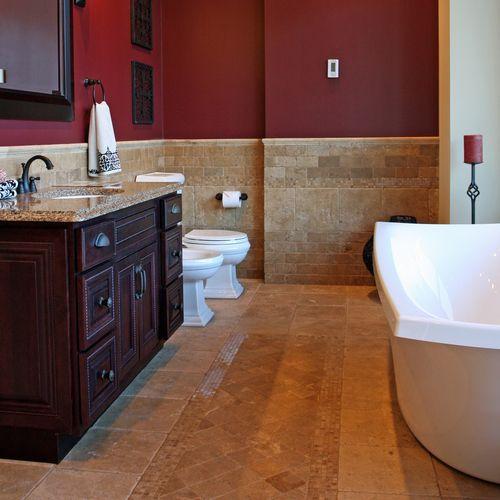 Burgundy Bathroom Ideas