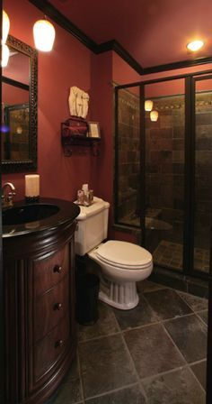 Image result for burgundy bathroom ideas (with pictures) |  Burgundy.