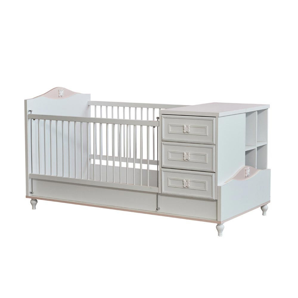 Modern baby bed with butterfly OMAHQVX