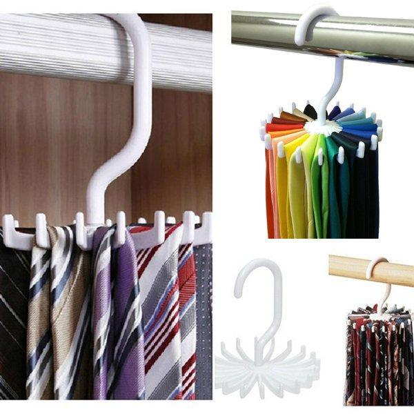 Buy tie holder belt holder tie holder organizer coat hanger closet 20 hooks BFHTKJL