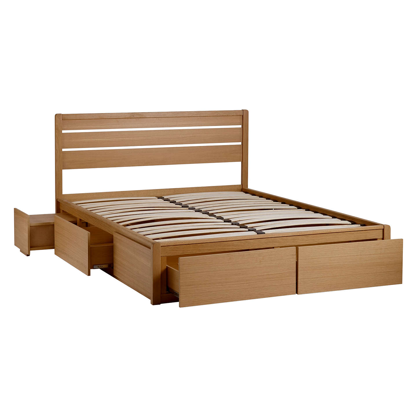 john lewis montreal bed with storage box, double bed, oak buy online at johnlewis.com ... SNEWBYM
