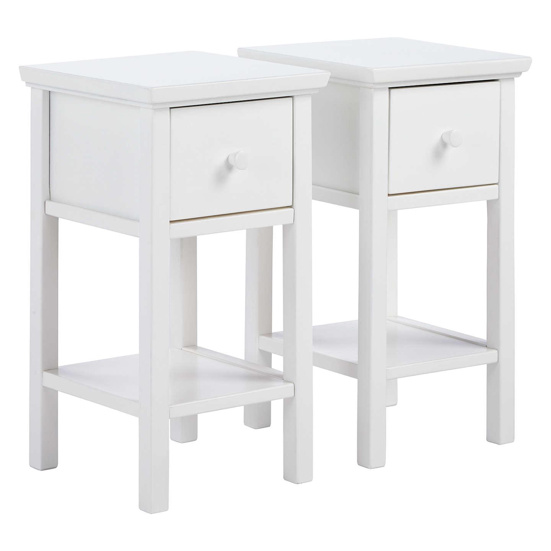 john lewis wilton set of 2 bedside tables, white buy online at johnlewis.com FTSXUKL