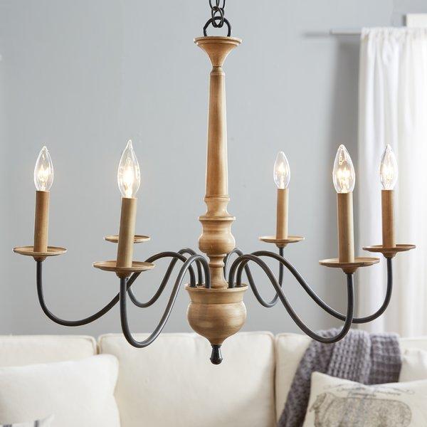 Candlesticks birch Lane ™ Edson 6-burner chandelier & Reviews |  Birkengasse WSTYWRQ