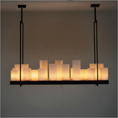 European style candlestick rectangle modern candle decorative modern chandelier, iron white glass WOHDCDW