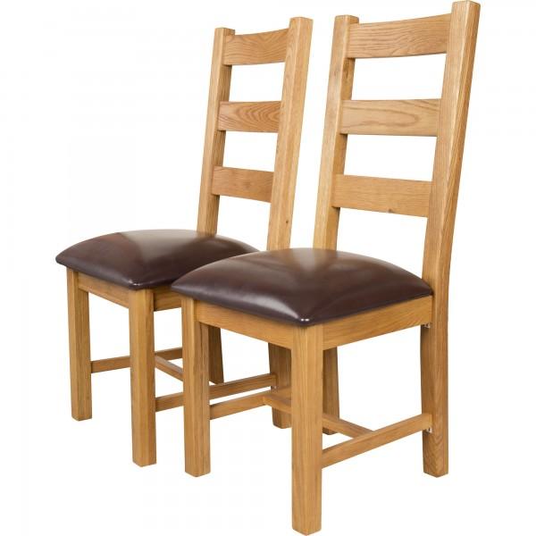 Canterbury oak dining chairs set of 2 QQOLZUA