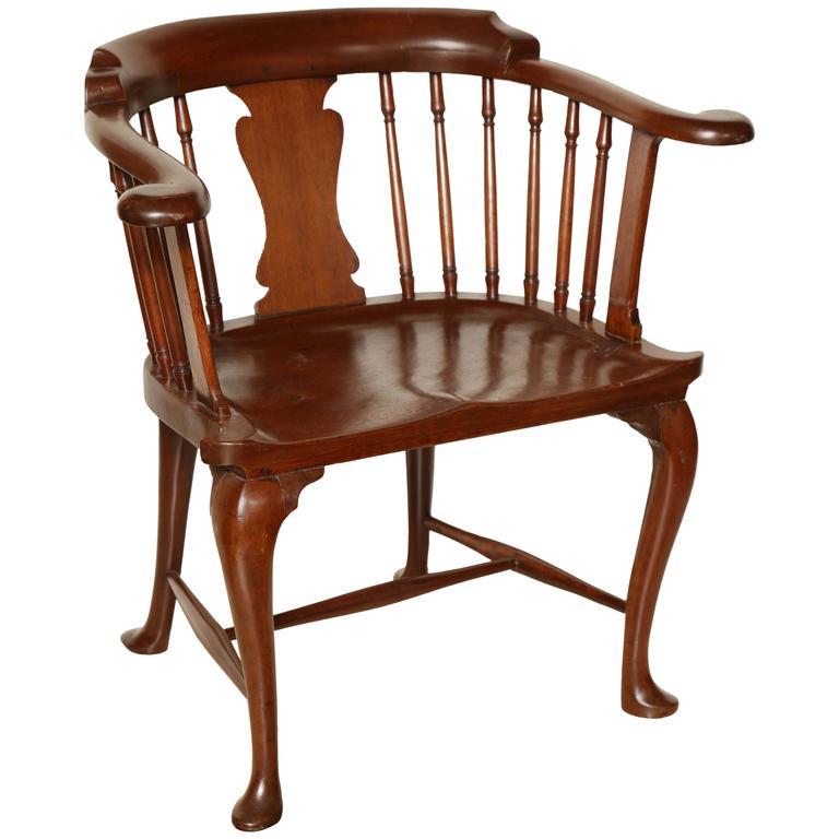 Captain's chair rare mahogany Captainu0027s chair HESGESS