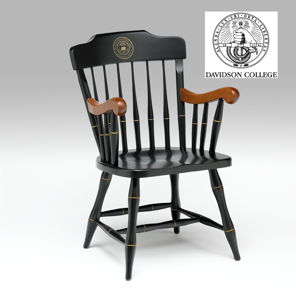 Captain's chair with cherry armrests GRKLCYW
