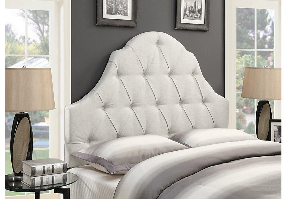 Carly Linen Full Queen Upholstered Headboard - Headboards colors ZEIATAU