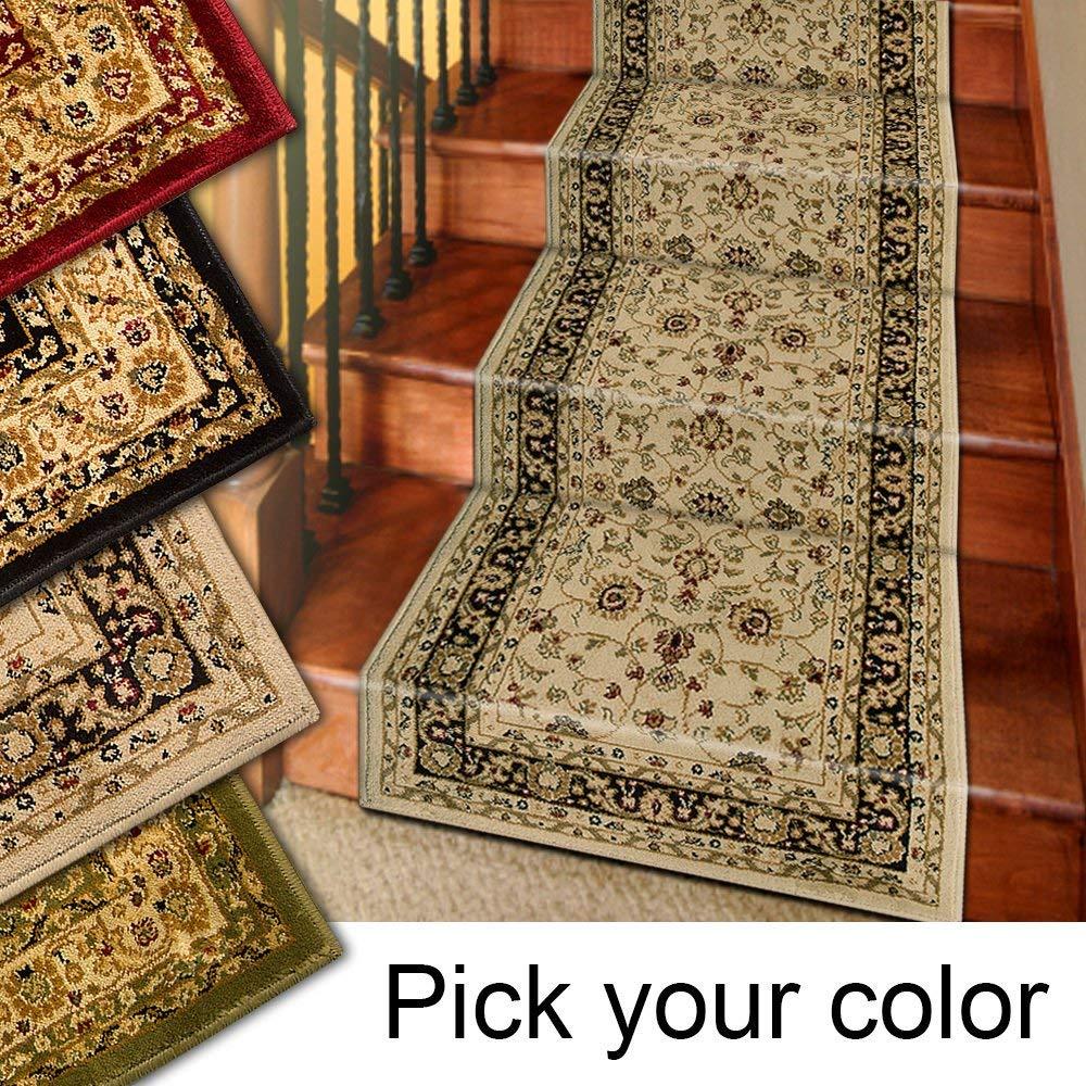 Carpet runner amazon.com: 25u0027 stair runner carpets - Marash Luxury Collection staircase carpet RTGYZQO