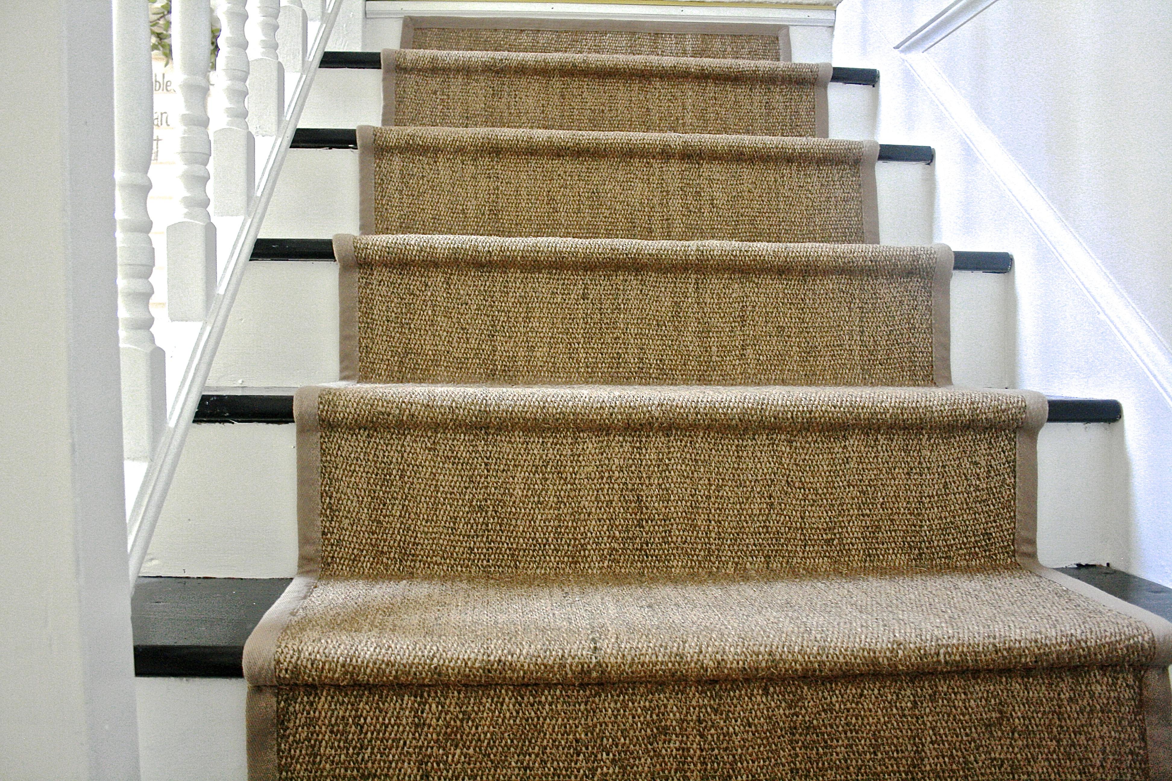 carpet runner diy ikea jute carpet stair runner HGIXYPT