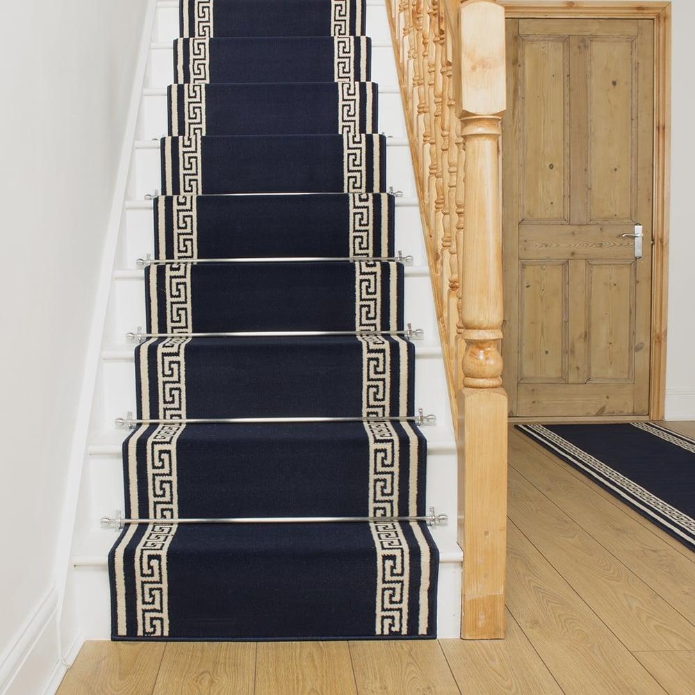 Carpet runner key blue stair runner RVFZMLO