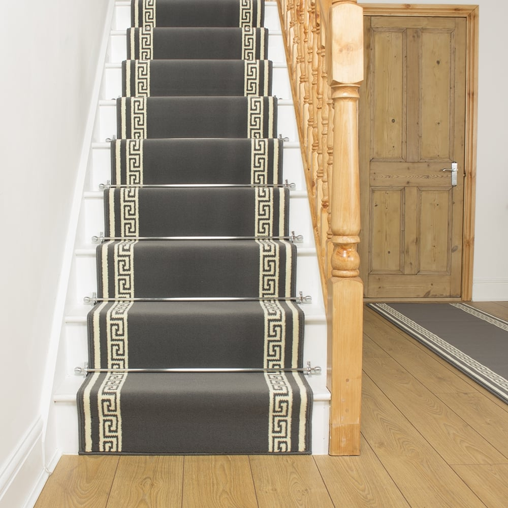 Carpet runner key gray stair runner NOTBHBQ