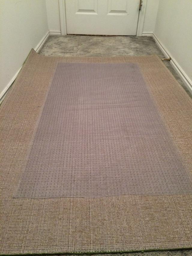 Carpet runner place the vinyl runner upside down and center it on the XNHMNHJ