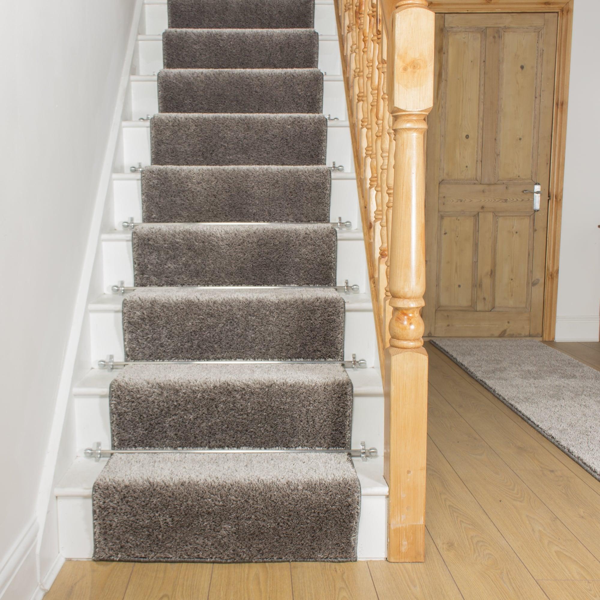 Carpet runner shaggy silver gray MYDYGGT