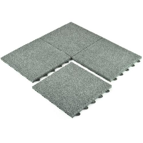 Carpet tile raised squares snap 4 tiles together.  QRTSZGG