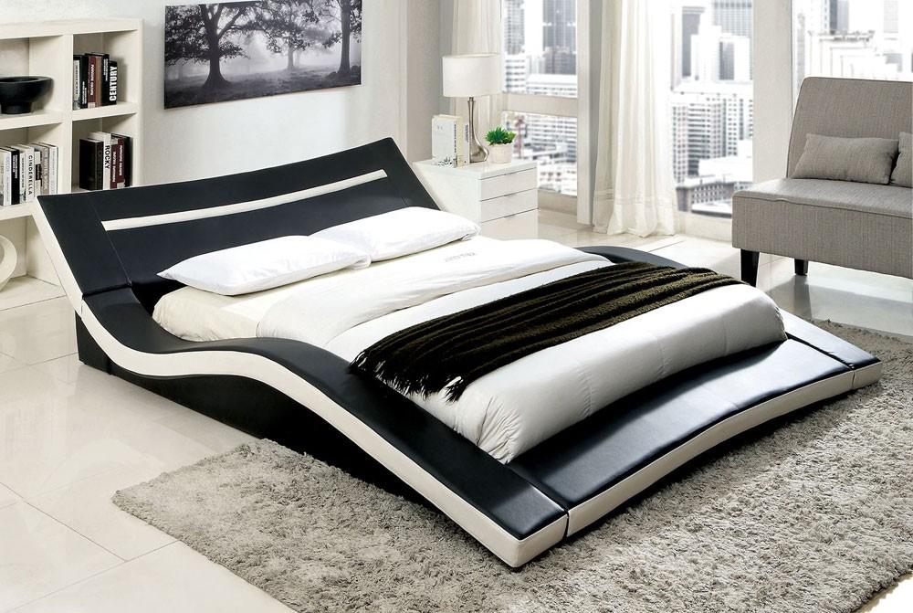 Carvel modern low platform bed CISHSBL