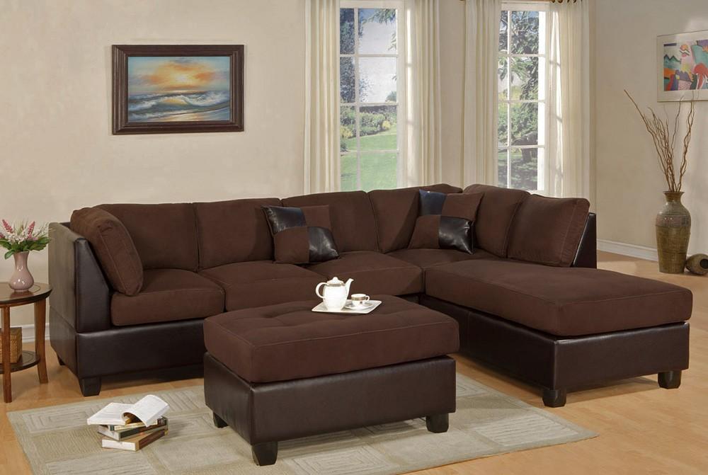 Casablanca microfiber sectional sofa, divisible back MWVBLZJ