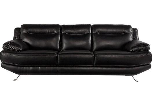 Castilla black leather sofa - classic - modern, MZTOWFI