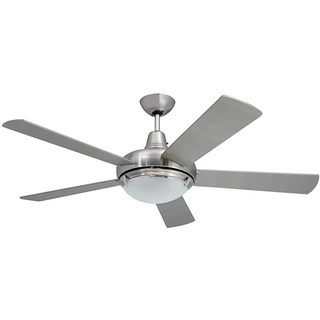 Ceiling Fans with Lights Modern 52 inch nickel ceiling fan with 2 lights SFRMXAY