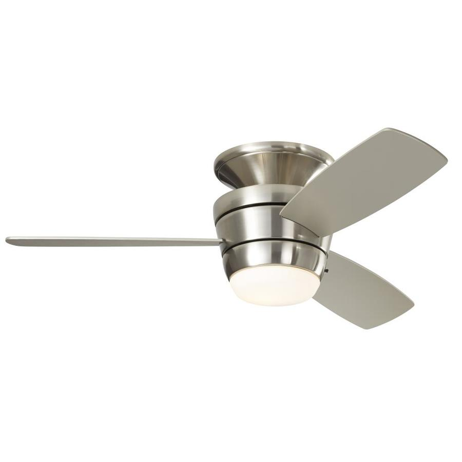 Ceiling Fans with Lights Harbor Breeze mazon 44 inch brushed nickel LED ceiling fan for ceiling mounting