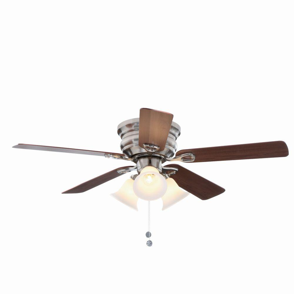 Indoor ceiling fans with lighting Brushed nickel ceiling fan with ORWSKEJ lighting set