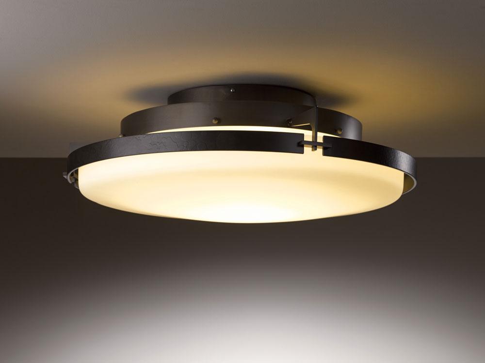 Ceiling lights Hubbardton Forge 126747d Metra 24.3u0026nbsp;  wide LED ceiling WIDBFUM