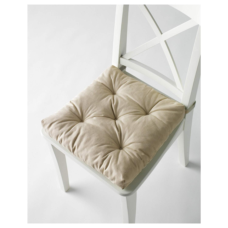 Chair cushions amazon.com: ikeau0027s malinda chair cushions (2, light beige): Kitchen & dining room VVPKYGK