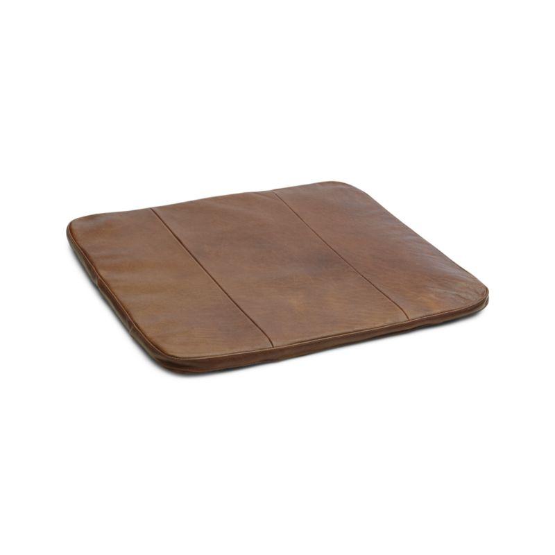 Chair cushion tig dining chair brown leather cushion + Reviews |  Box and barrel JHZNBZG