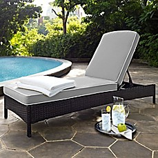 Chaise Longue Outdoor Crosley Palm Harbor Outdoor Wicker Chaise Longue with Cushions NOYIDUW