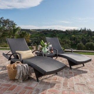 outdoor chaise longue oliver & james baishi 3-piece outdoor lounge set OCXAXQF