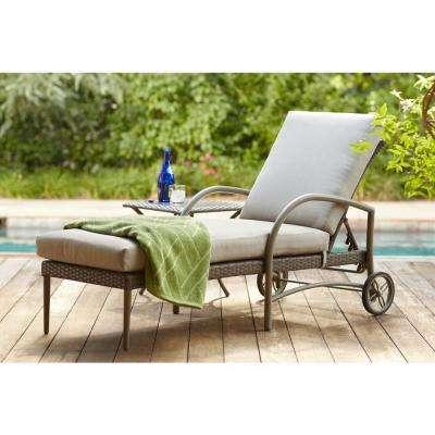Chaise Longue Outdoor Posada Patio Chaise Longue with Gray Pillow YXWBCBU