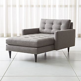 Chaise longue sofa Petrie Midcentury chaise longue UPVZHYU