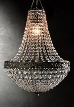 Chandelier Renaissance crystal chandelier 25in with lighting set XRFCGAU
