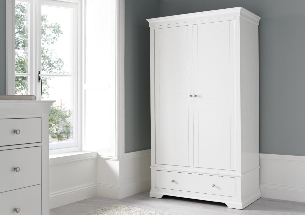 chateaux white wardrobe GMCKUQJ