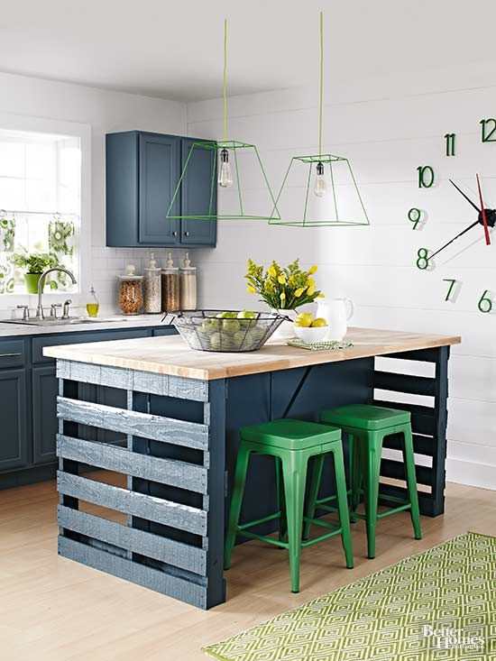 How to build a kitchen island from wooden pallets |  Building a.