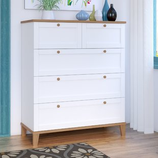 Chest of drawers alissa chest of drawers with 5 drawers YKHKBZY