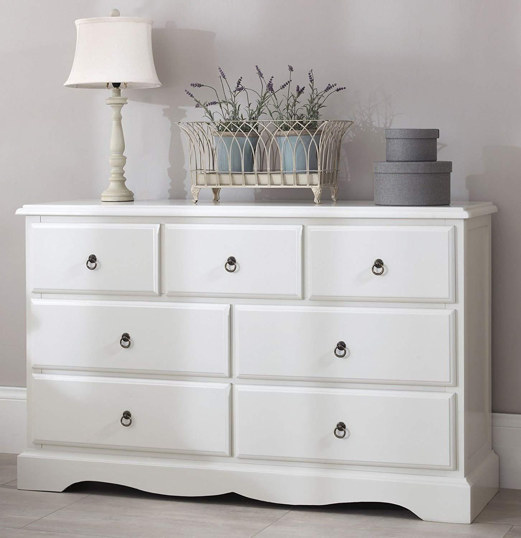 Dresser romance large dresser, large 3 over 4 antique white dresser, GDVUVLB
