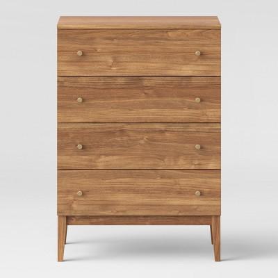 chest of drawers seal 4 drawers chest of drawers walnut - project 62 ™ MEDATHP