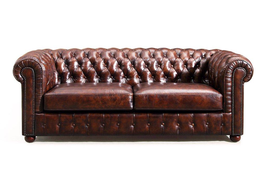 Chesterfield leather sofa original rm-95 KFOUWNL