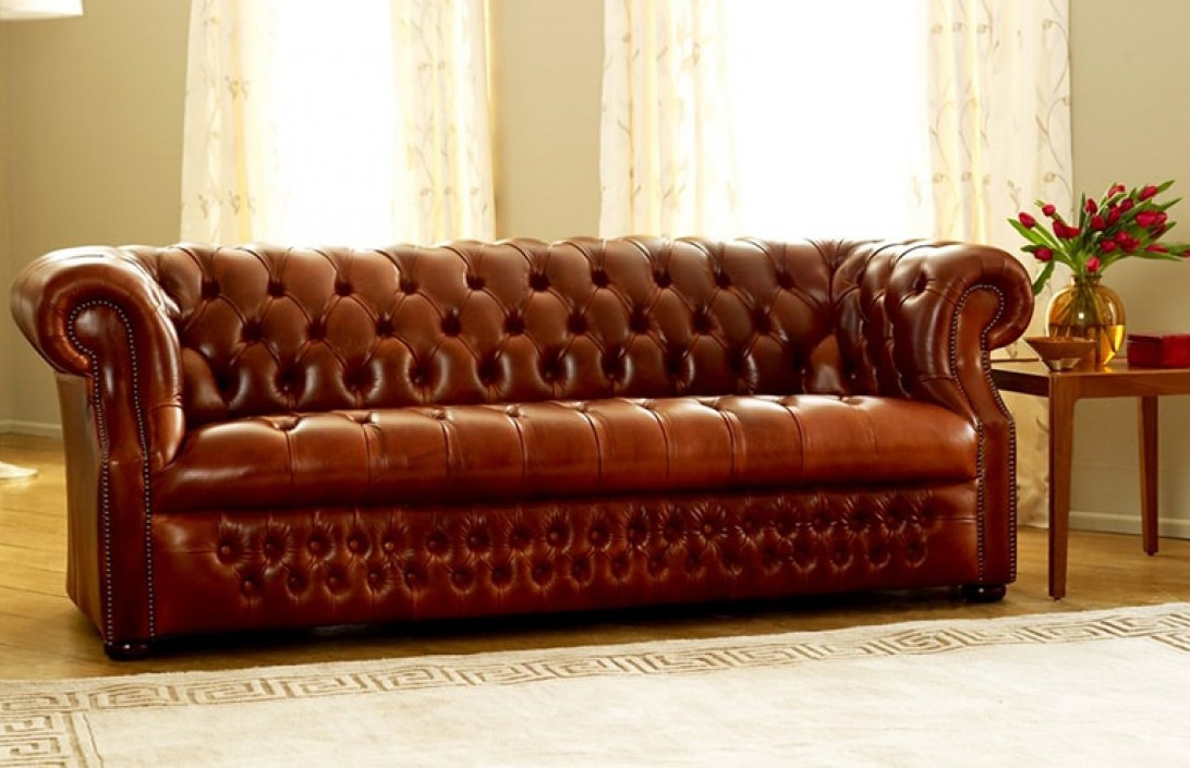 Chesterfield leather sofa Richmount deep button sofa FZGEBGY