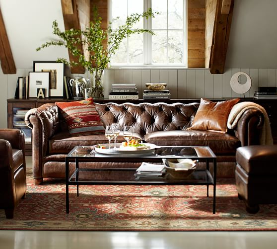 Chesterfield leather sofa save IRGFLJR